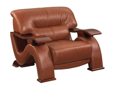 Global Furniture USA GF-2033 Chair - Burgundy Leather Match