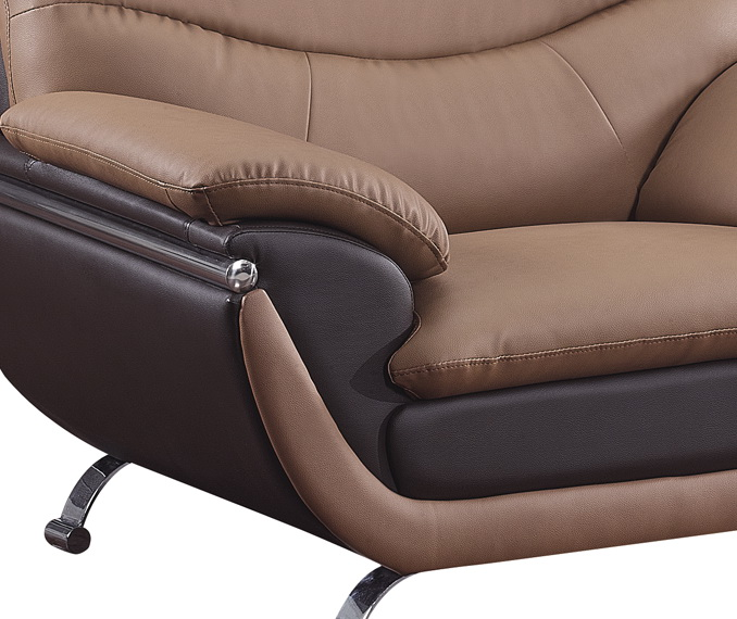 2106 Chair - Brown/Dark Brown - Global Furniture