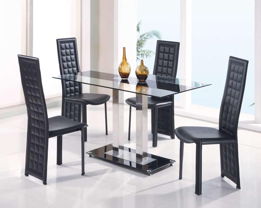 Cheap Global Furniture USA GF-2108 Dining Set – Black Stripe