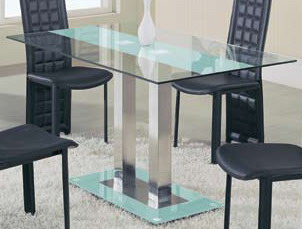 Photo of Global Furniture USA GF-2108 Dining Table - Frosted Stripe (Dining Room Furniture, Dining Room Set, Dining Tables, Dining Room Tables)
