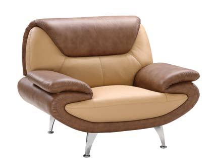 Global Furniture USA GF-210 Chair - Tan/Brown Leather Match