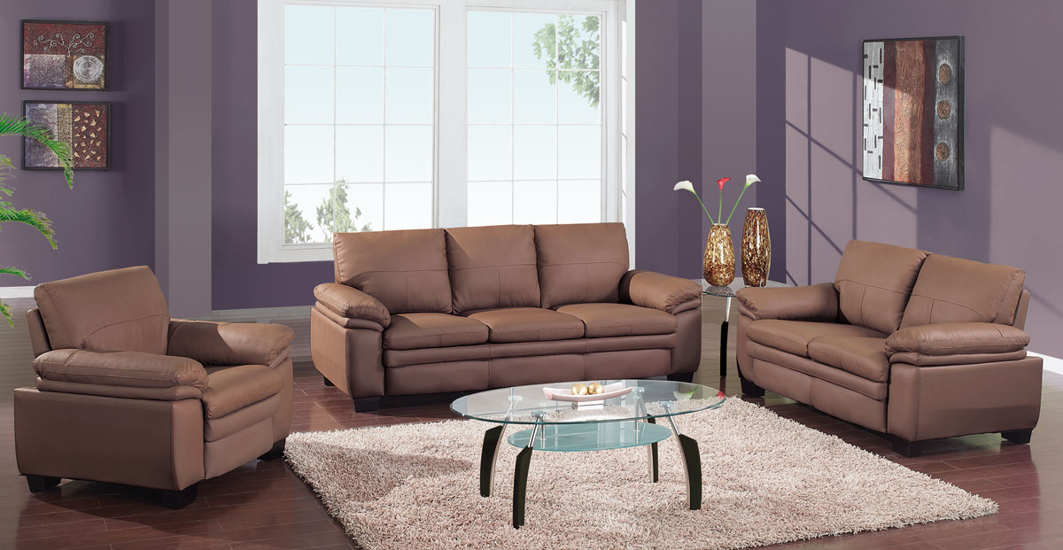 2225 Living Room Set - Brown - Global Furniture
