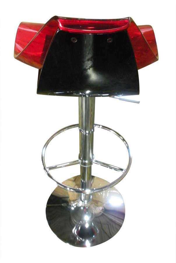 Global Furniture Usa 250 Bar Stool Red And Black M250bs