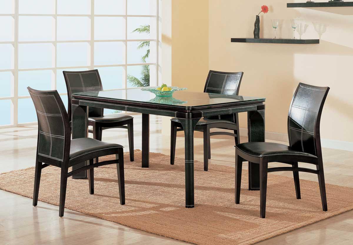 Global Furniture USA GF-3110 Dining Set-Wenge Leather
