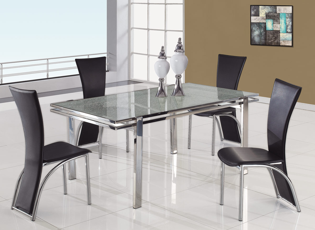 Global Furniture USA 434 Dining Set A - Black