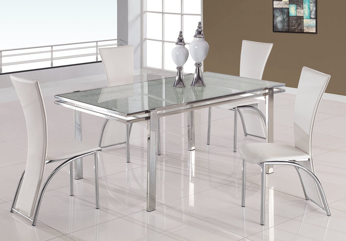 Global Furniture USA 434 Dining Set B - White