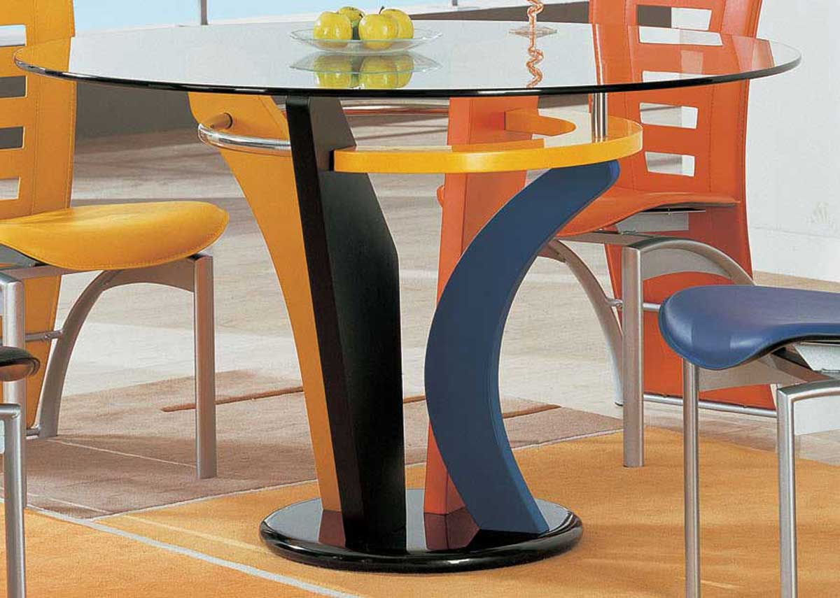 Global Furniture USA 5443 Dining Set Multi Color D5443DT D290NDC DIN