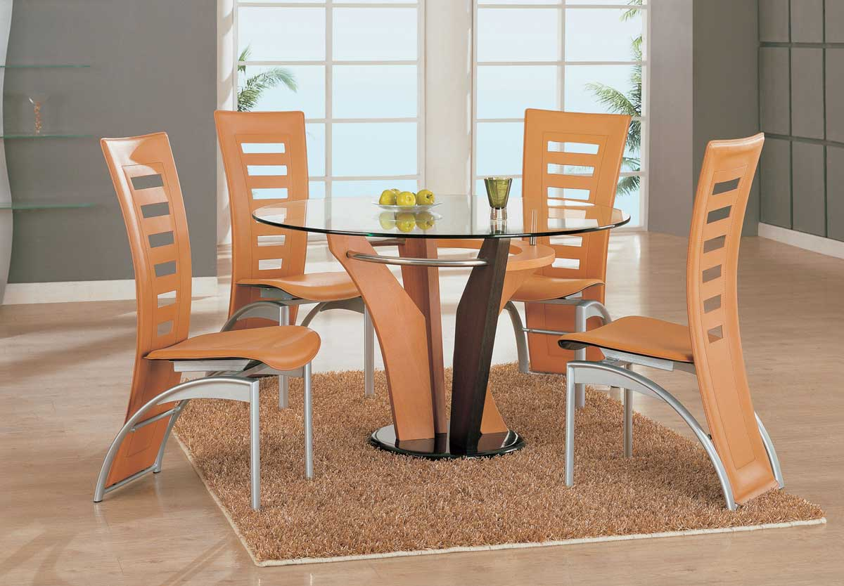 Global Furniture USA 5443 Dining Set - Brown/Light Brown