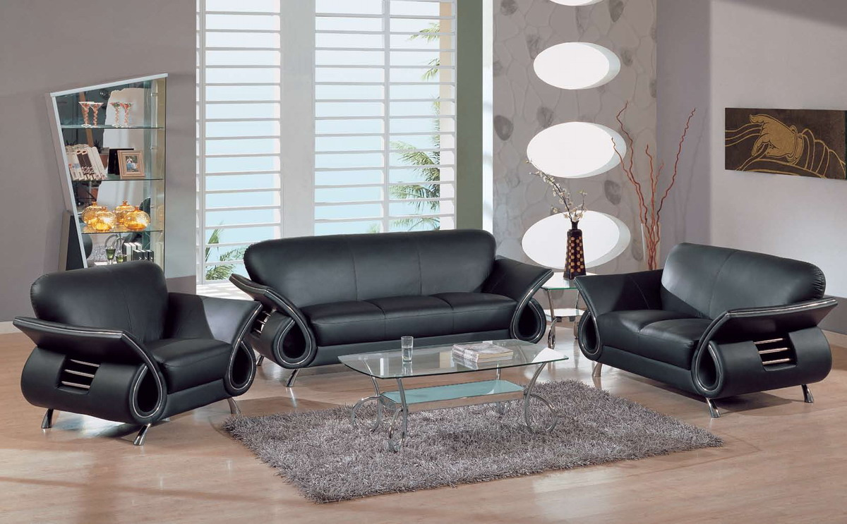 Global Furniture USA 559 Set Black 559 Living Room Collection   Black