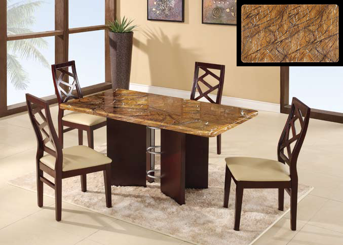 Global Furniture USA GF-6020 Dining Set - Mahogany