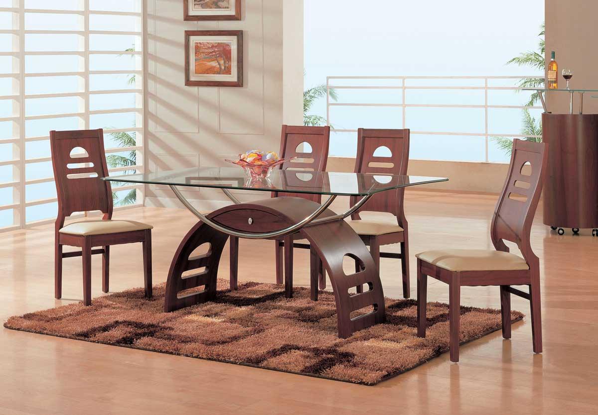 Global Furniture USA GF-63 Dining Set-Mahogany
