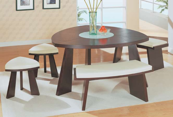 Photo of Global Furniture USA GF-64 Dining Set - Wenge/Capuccino (Dining Room Furniture, Dining Room Set, Casual Dining Furniture)
