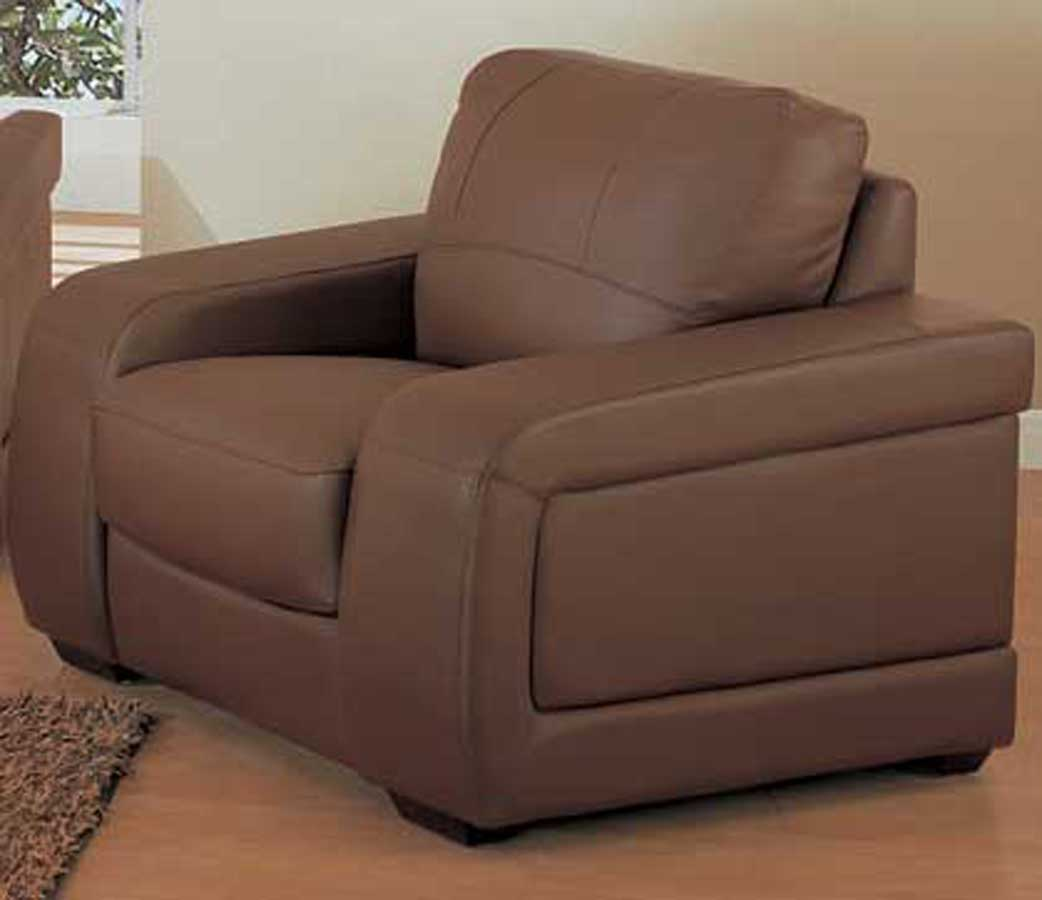 Global Furniture USA GF-665 Chair-Brown Leather