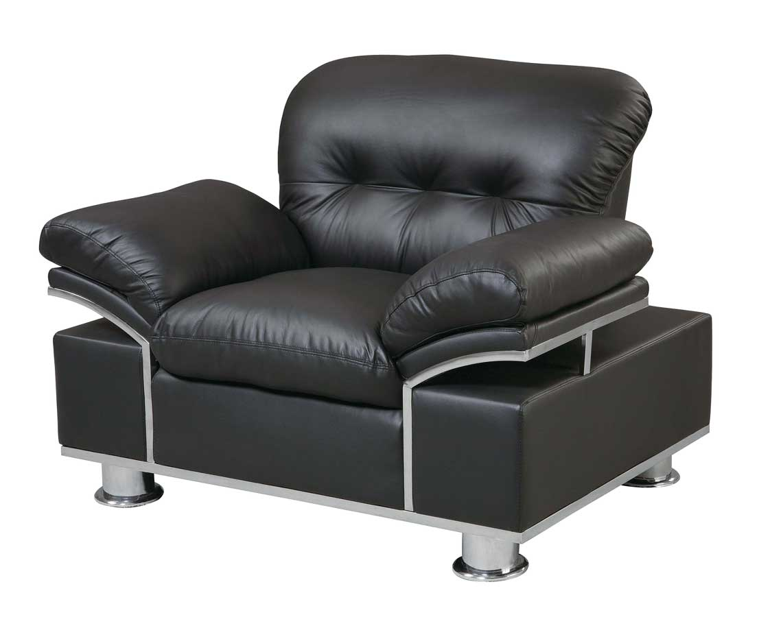 Global Furniture USA GF-676 Chair-Black Leather