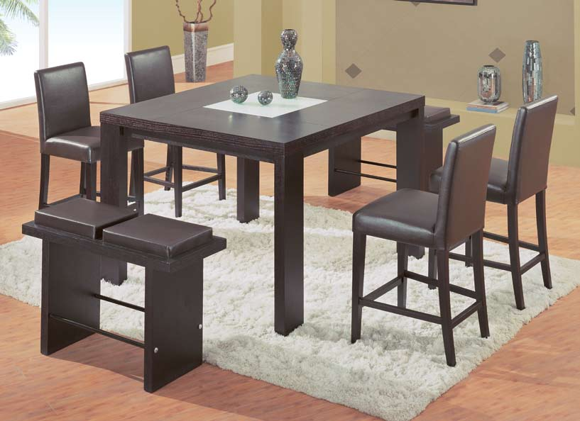 Global Furniture USA GF-67 Dining Set - Brown