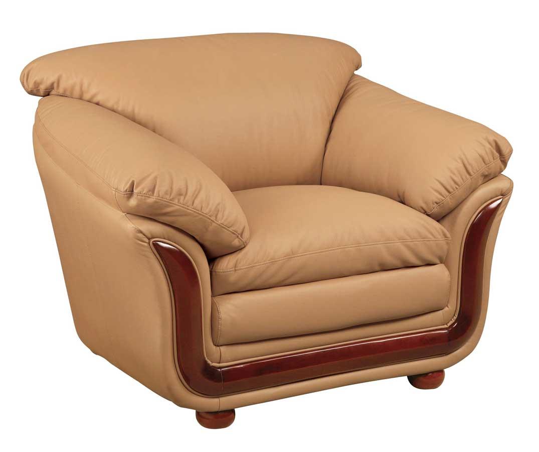 Global Furniture USA GF-682 Chair-Cappuccino Leather