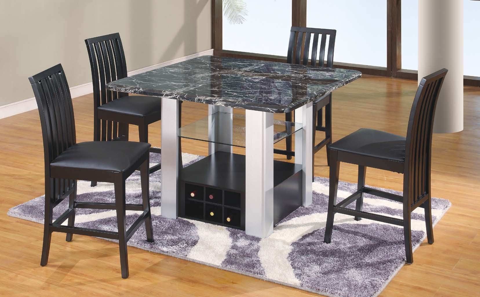 Cheap Global Furniture USA GF-7040 Dining Set – Black