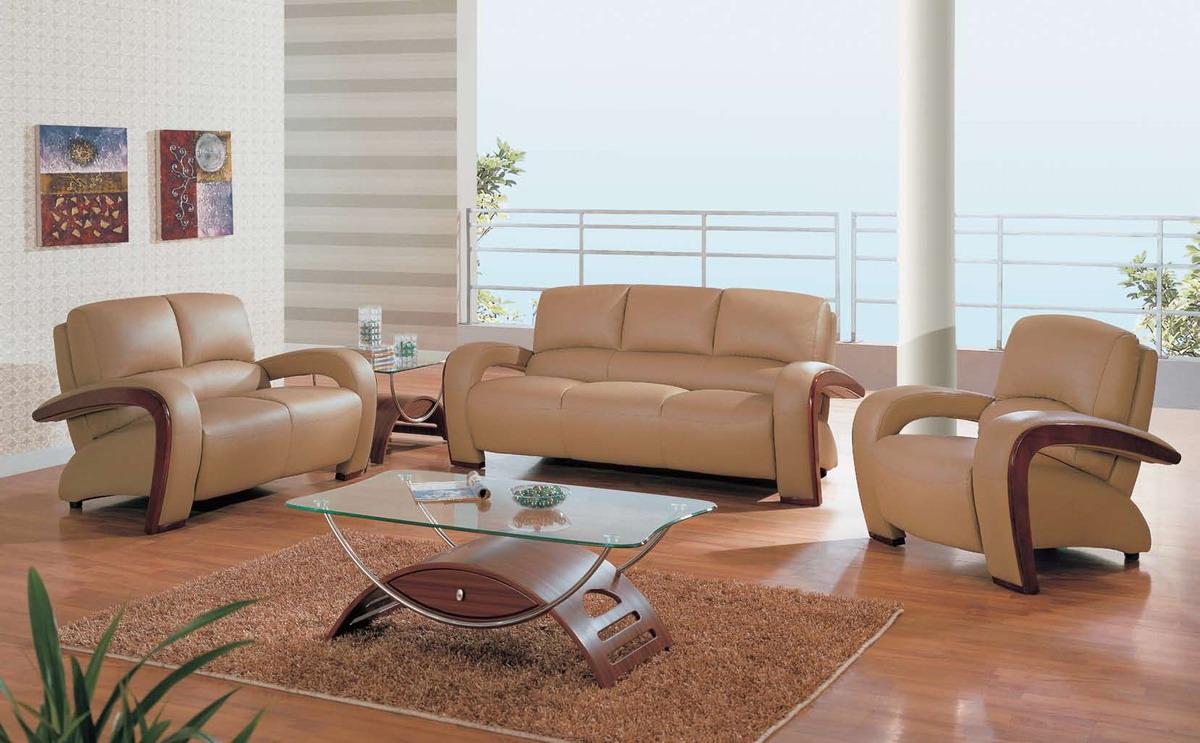 Perfect Global Furniture USA GF 705 Sofa Set   Tan Leather Match