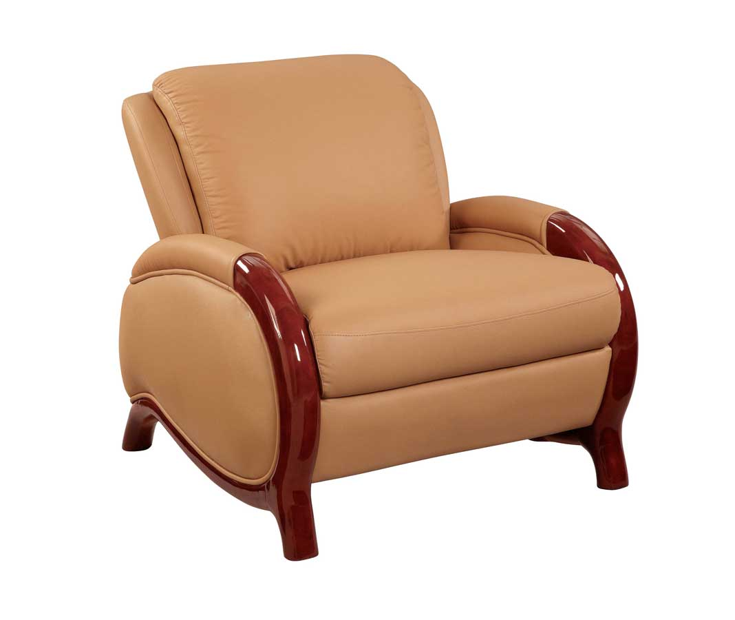 Global Furniture USA GF-727 Chair-Tan Leather