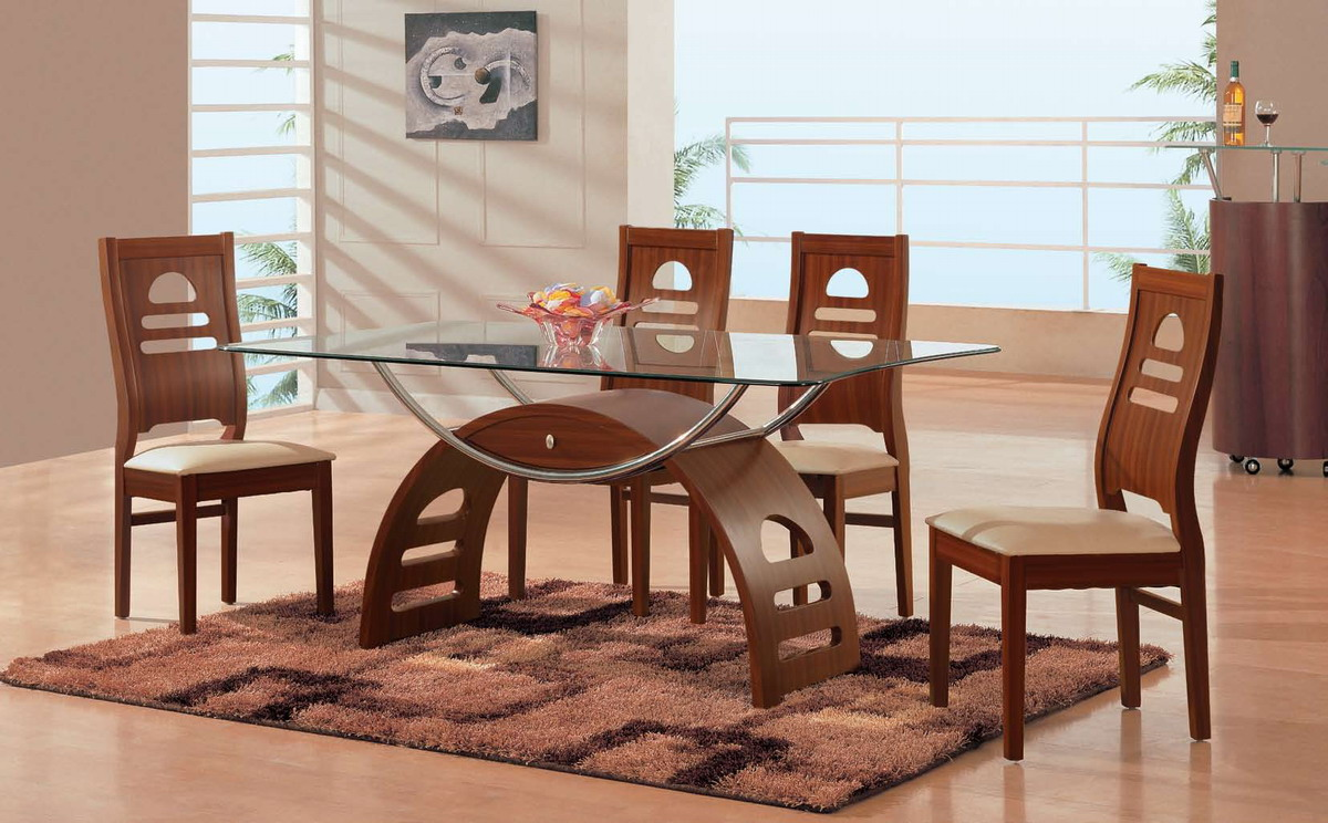 Global Furniture USA GF-73 Dining Set - Brown/Beige