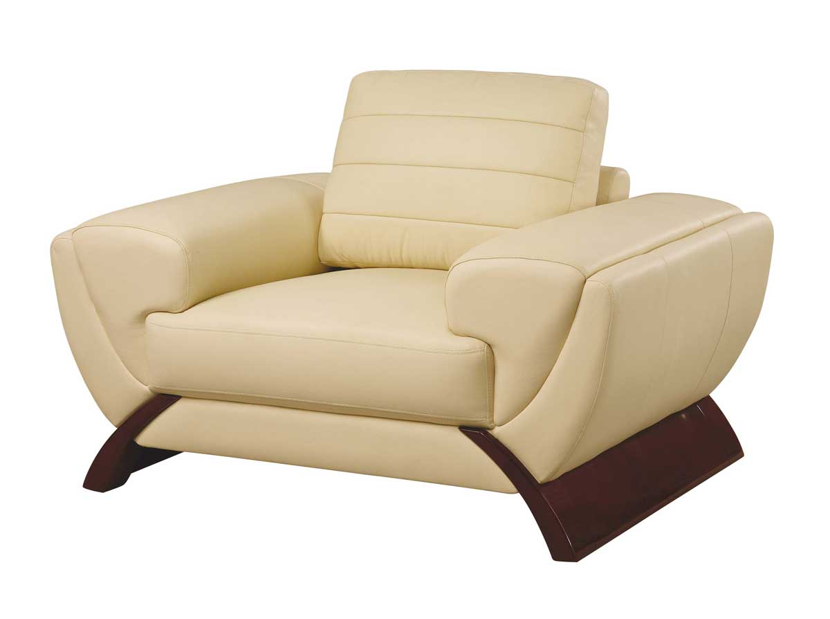 Global Furniture USA GF-739 Chair-Ivory Leather