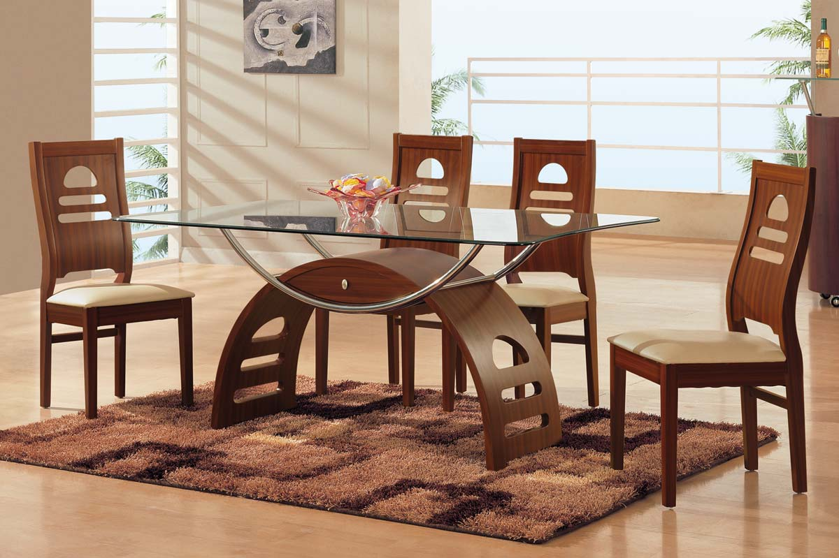 Global Furniture Usa 73 Dining Set Mahogany Gf 73dinset