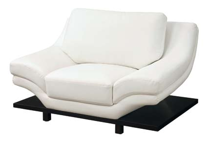 Global Furniture USA GF-757 Chair - White Leather Match
