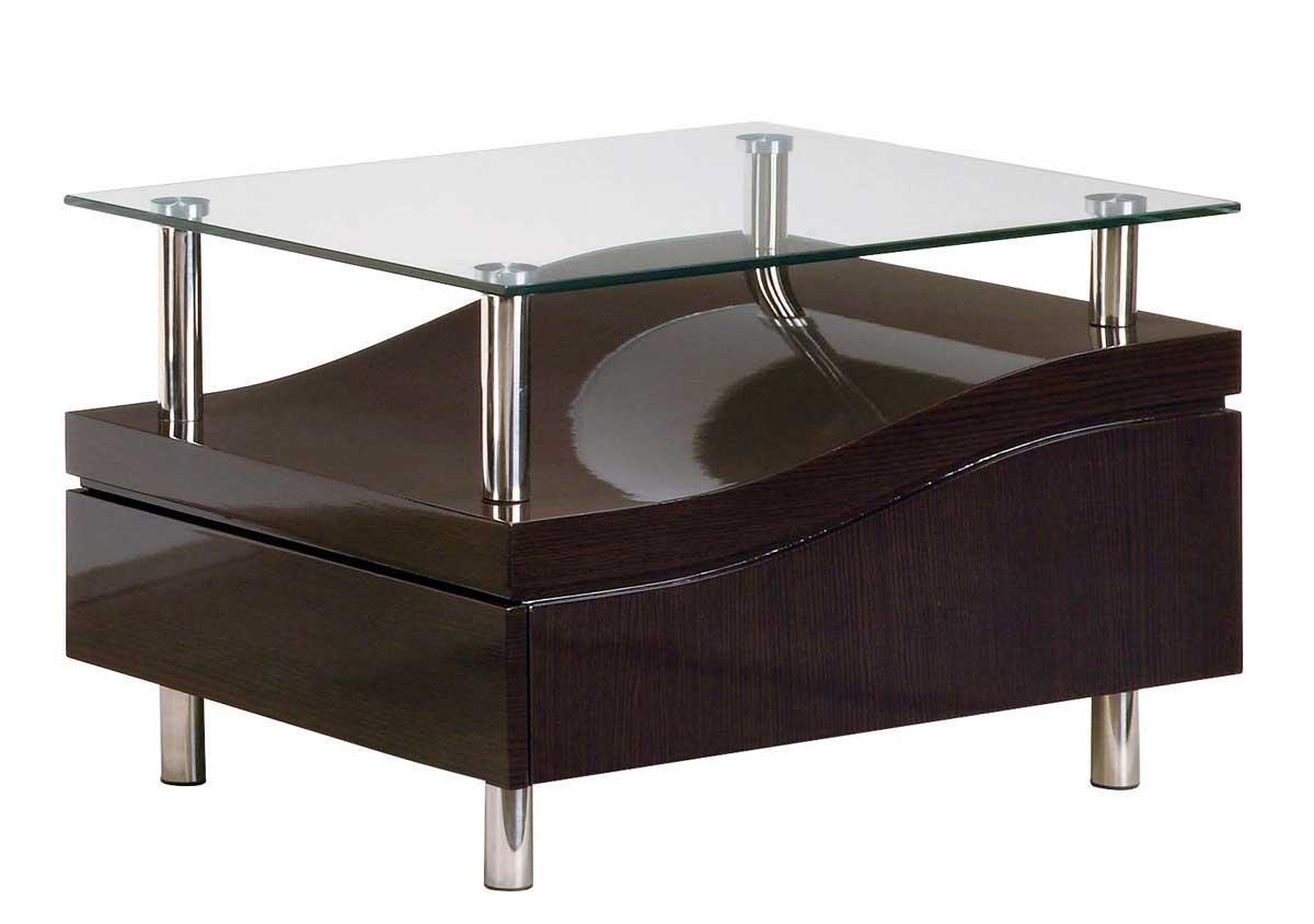 global furniture usa 759 end table wenge chrome gf t759we at. Black Bedroom Furniture Sets. Home Design Ideas