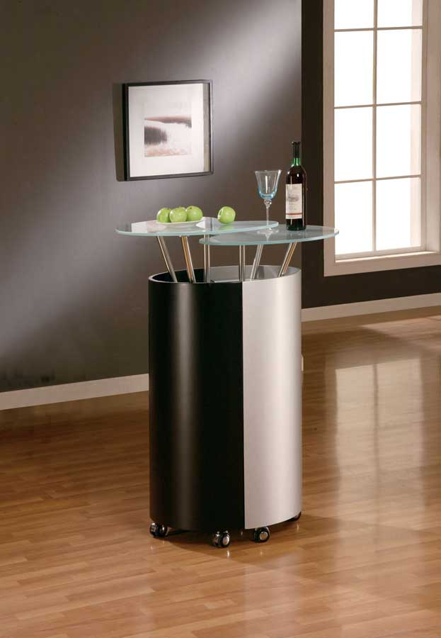 Global furniture usa 777 bar black silver gf m777 b s at for Furniture 777