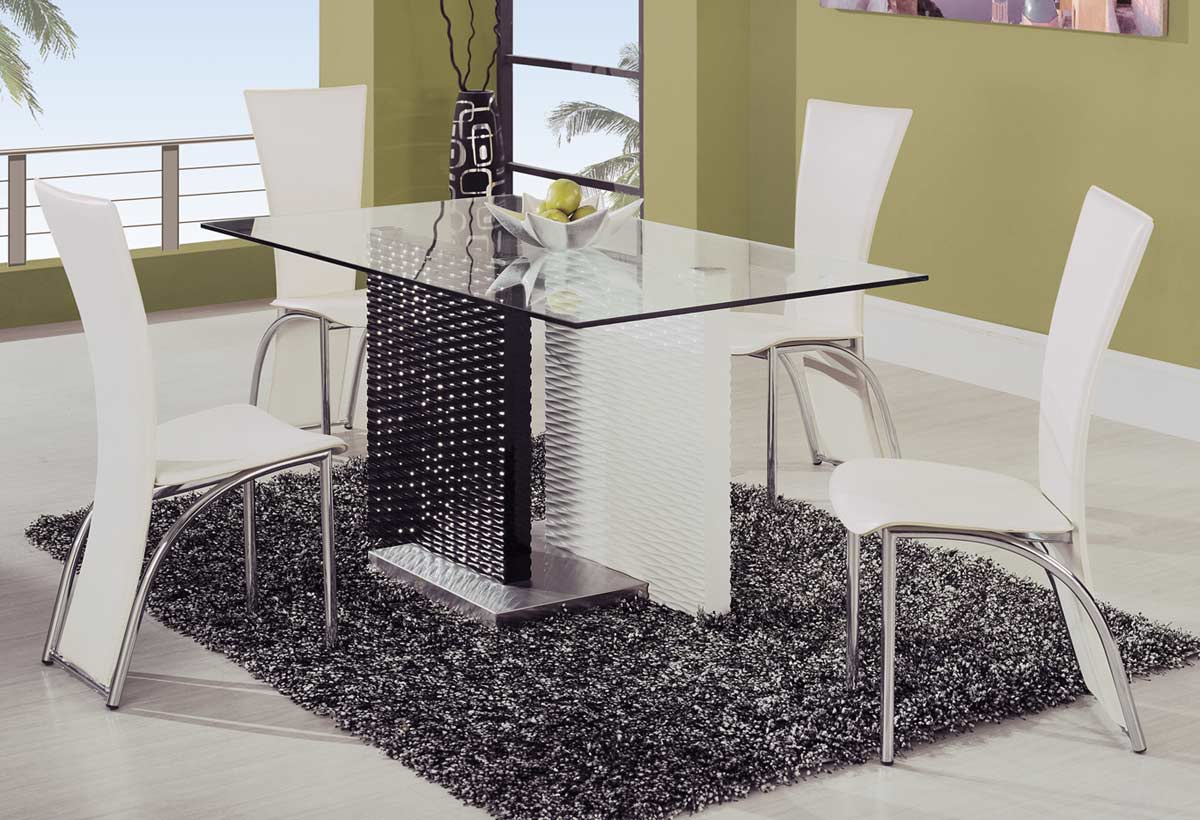 Global Furniture USA 78 Dining Set - White