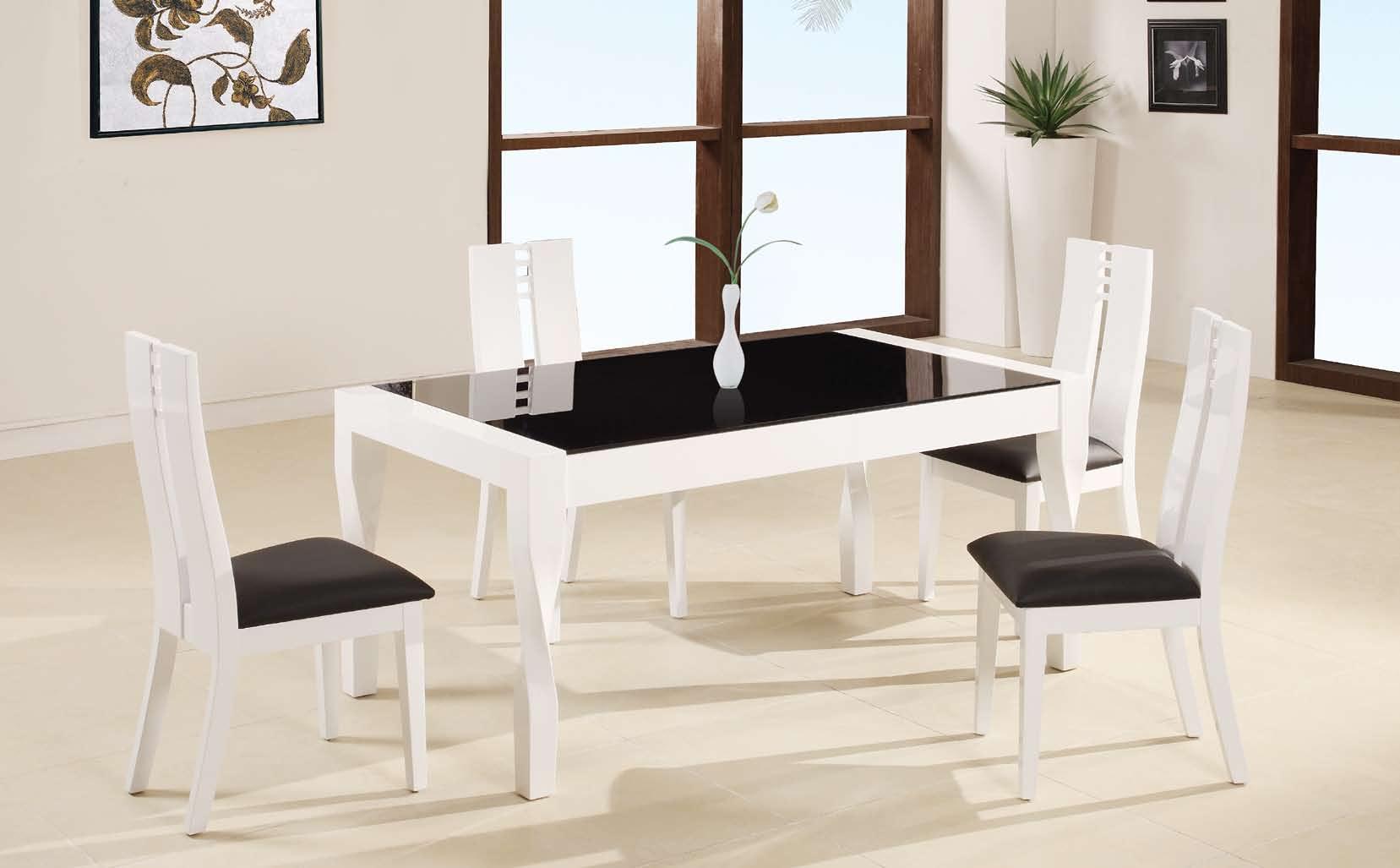 Cheap Global Furniture USA GF-822 Dining Set – Black/White