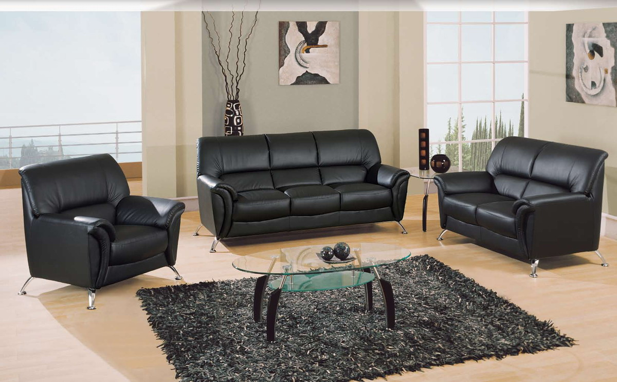 Global furniture usa 9103 living room collection black gf u9103 bl sofa set at homelement com