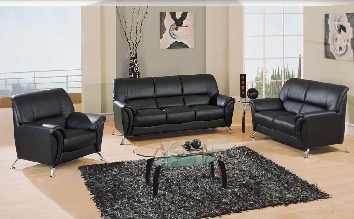 Global Furniture USA 9103 Living Room Collection Black GF U9103 BL SOFA SET