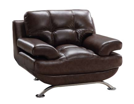 Global Furniture USA GF-9108 Chair - Brown Leatherette