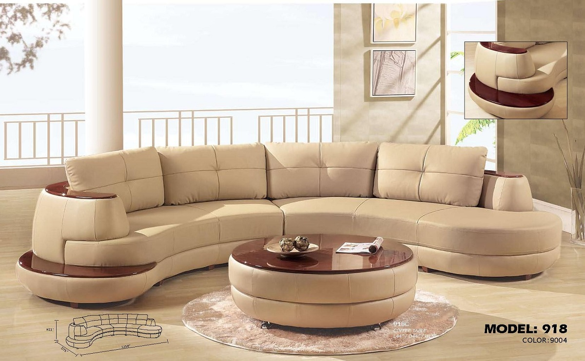 Global furniture usa 918 sectional sofa set cappuccino gf for Design sofa outlet