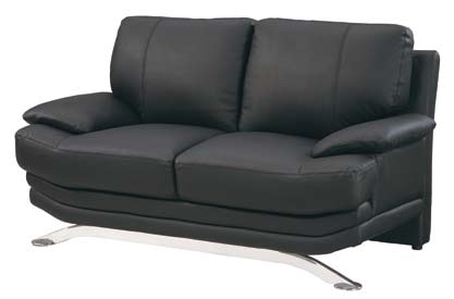 9250 Love Seat - Black - Global Furniture
