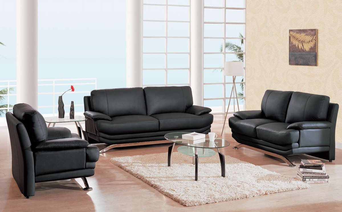 furniture usa gf 9250 living room collection black leather match