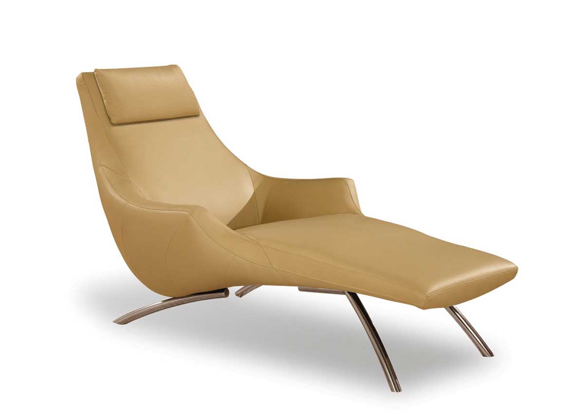 Global Furniture USA GF-9562 Chaise-Cappuccino Leather