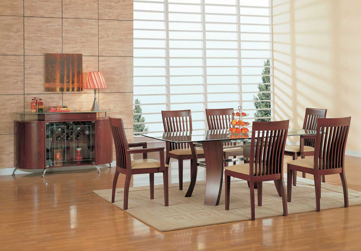 Global Furniture USA GF-97 Dining Set-Mahogany