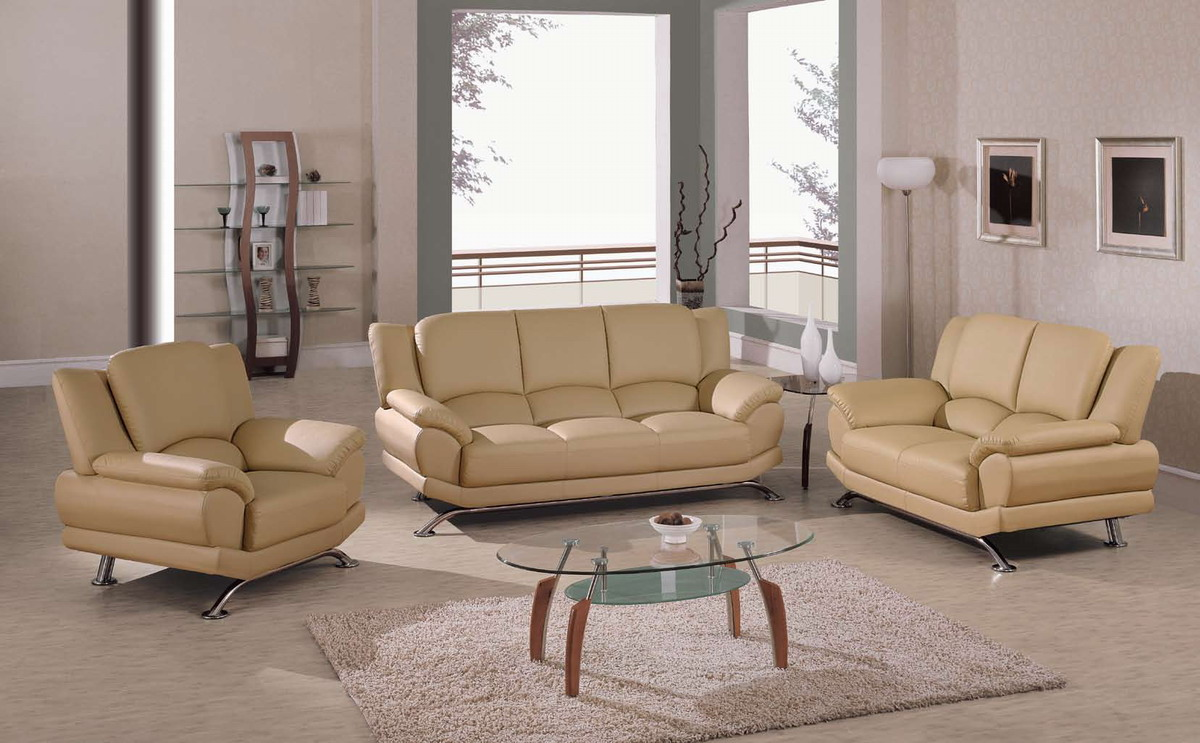 Remarkable Global Furniture USA U CAP SOFA SET Living Room Collection Cappuccino Global Furniture Product Photo