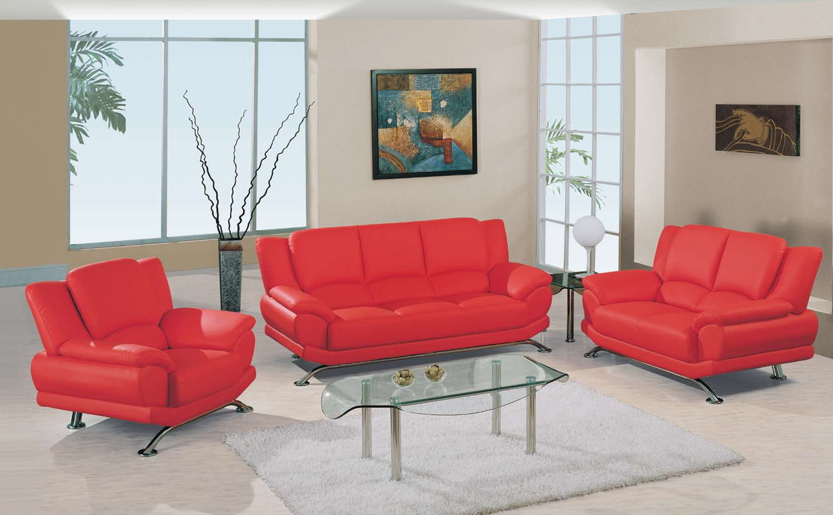 Furniture Living Room Red Black