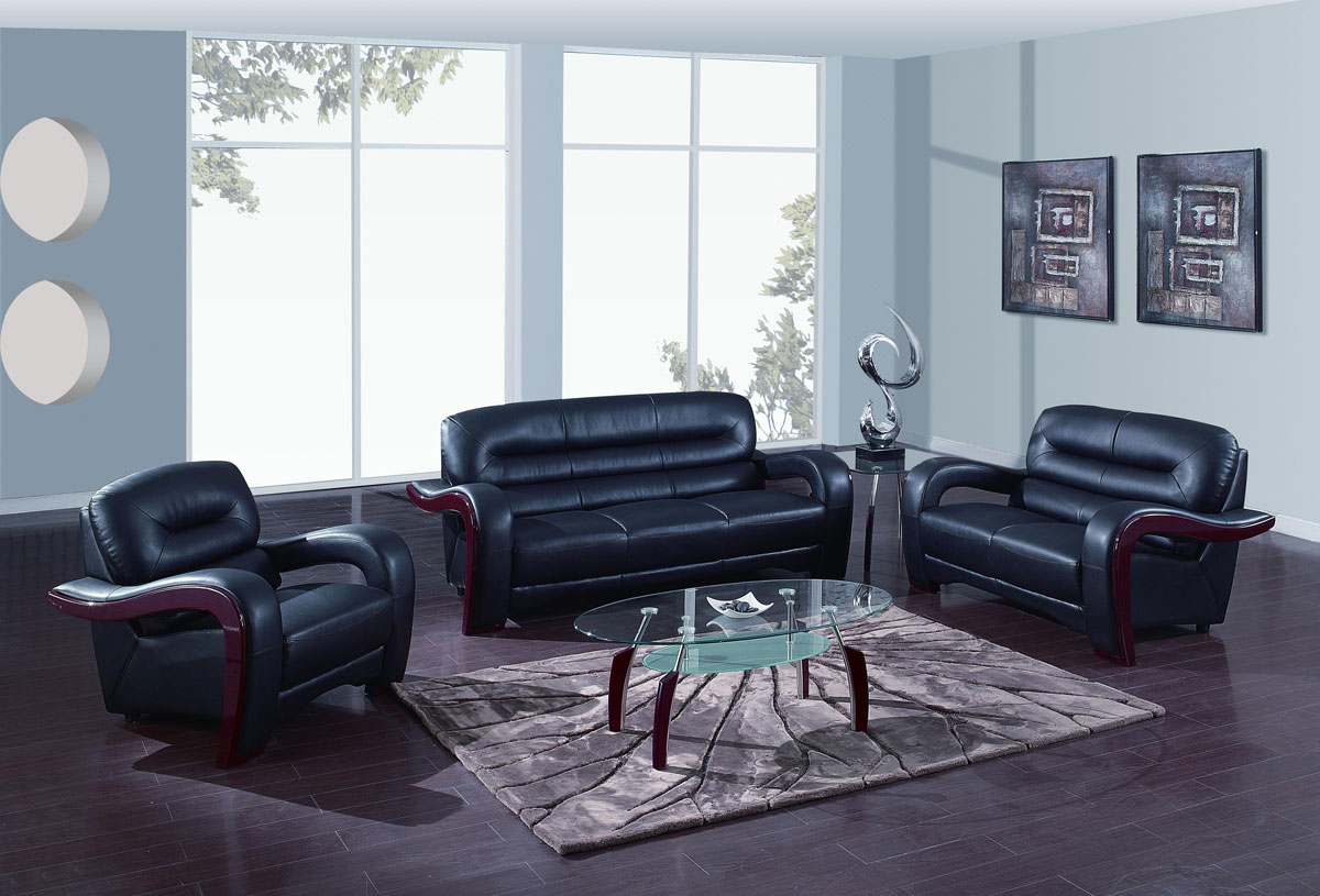 Gf rv bl sofa set living room sets by global furniture usa aqua and