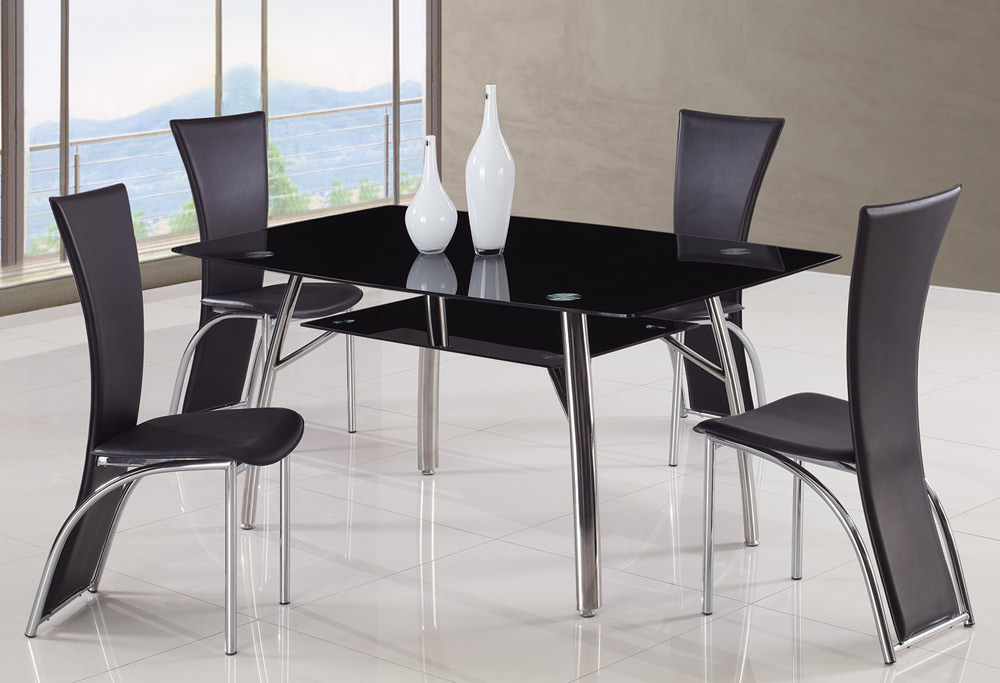 Global Furniture USA A091 Dining Set A - Black
