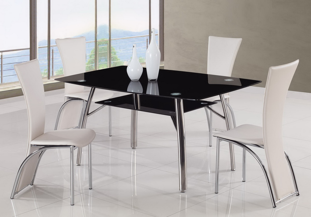 Global Furniture USA A091 Dining Set B - White
