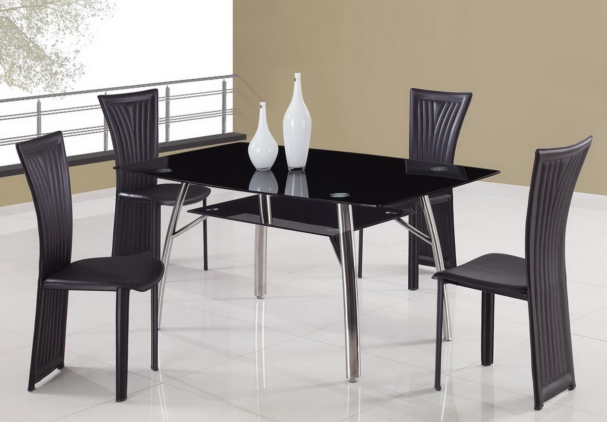 Global Furniture USA A091 Dining Set C - Black