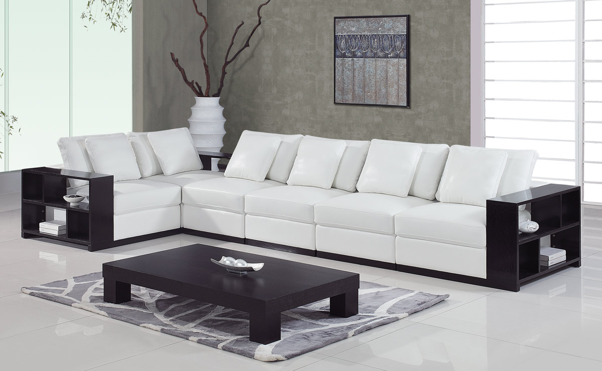 A130 Sectional Set B - White - Global Furniture