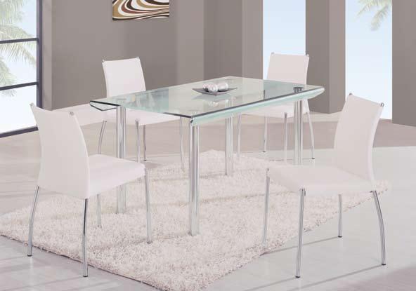 Global Furniture USA GF-A818 Rect Dining Set - Metal/Glass/Black