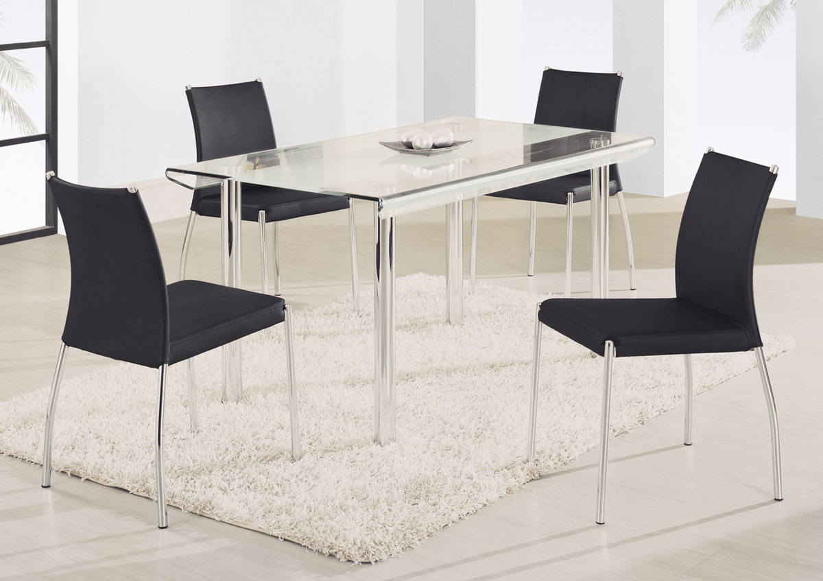 Global Furniture USA A818L Dining Set B - Black