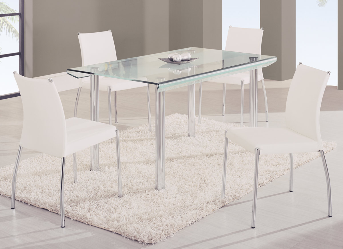 Global Furniture USA A818L Dining Set A - White