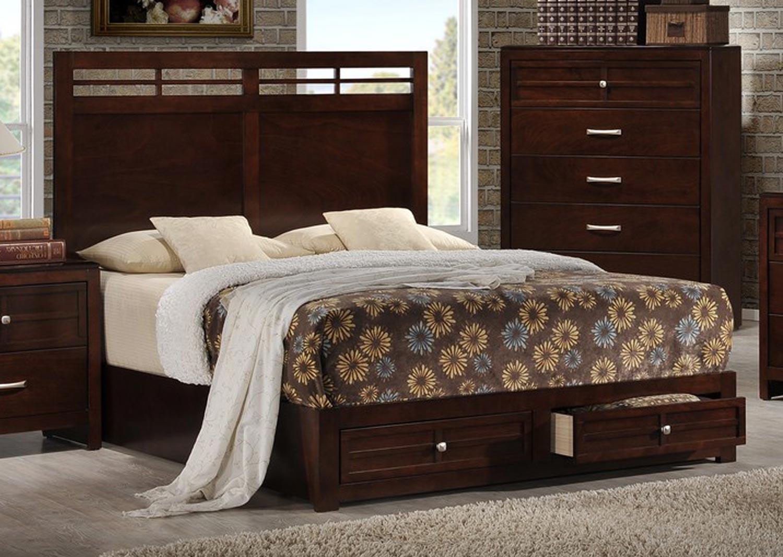 Global Furniture USA Abbey Bed - Merlot